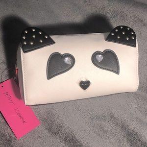 🐼NWT! Betsey Johnson Panda Face Cosmetics Case
